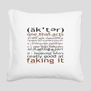 3-t-shirt-black-sally6 Square Canvas Pillow