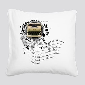 writer2 Square Canvas Pillow