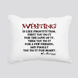 writing-08 Rectangular Canvas Pillow