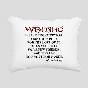 writing-08 Rectangular Canvas Pillow