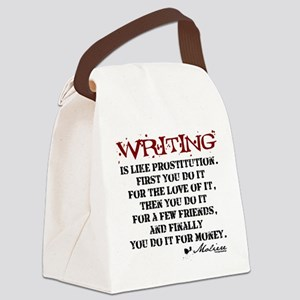 writing-08 Canvas Lunch Bag