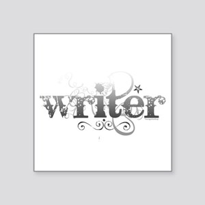 "writer Square Sticker 3"" x 3"""