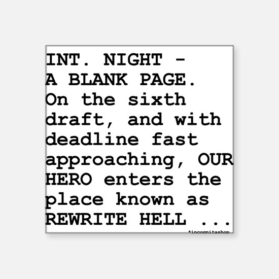 """rewrite-hell1.png Square Sticker 3"""" x 3"""""""