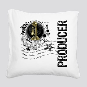 producer1 Square Canvas Pillow