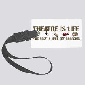 3-t-shirt-theatre-aus-black Large Luggage Tag