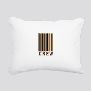 crew-barcode Rectangular Canvas Pillow