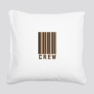 crew-barcode Square Canvas Pillow