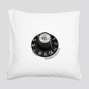 3-turningup11-2 Square Canvas Pillow