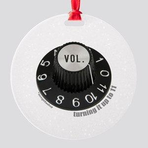 3-turningup11-2 Round Ornament