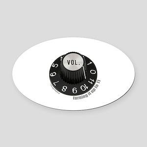 3-turningup11-2 Oval Car Magnet