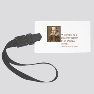 3-shakespeare-allswell-dark Large Luggage Tag