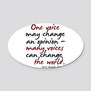opinion2.png Oval Car Magnet
