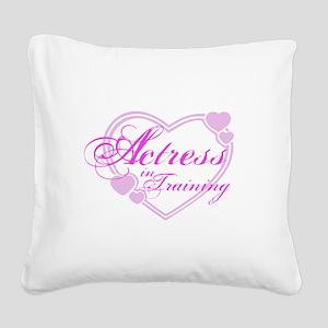kids-tshirt-actress1 Square Canvas Pillow