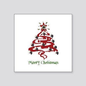 "card-christmas1 Square Sticker 3"" x 3"""