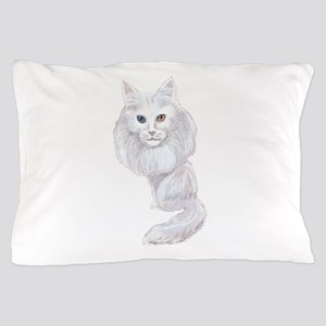 Turkish Angora Caricature Pillow Case