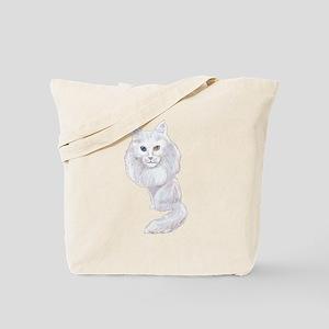 Turkish Angora Caricature Tote Bag