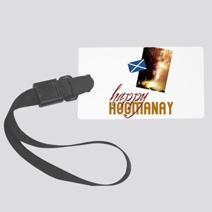 hogmanay-fireworks Large Luggage Tag