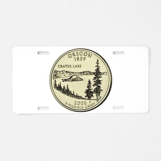 Oregon Quarter 2005 Basic Aluminum License Plate
