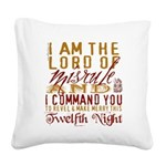 TwelfthNight Square Canvas Pillow