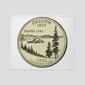 Oregon Quarter 2005 Basic Throw Blanket