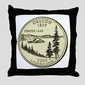 Oregon Quarter 2005 Basic Throw Pillow