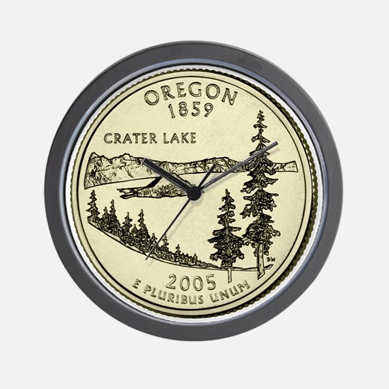 Oregon Quarter 2005 Basic Wall Clock