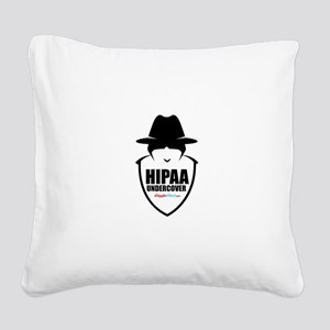 HIPAA Police 04 Square Canvas Pillow