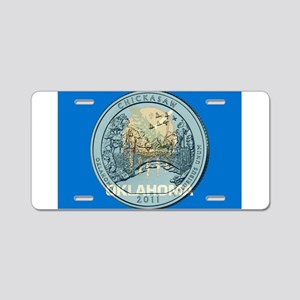 Oklahoma Quarter 2011 Aluminum License Plate