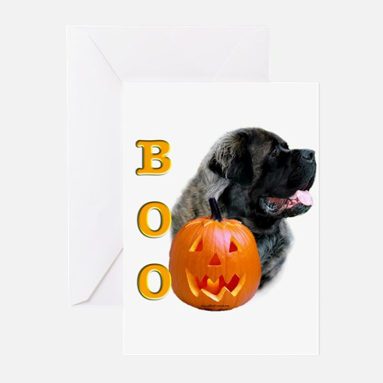 Halloween Mastiff Boo #4 Greeting Cards (Package o