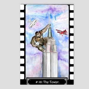 Tarot King Kong Tower Postcards (Package of 8)