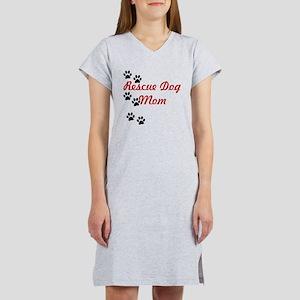Rescue Dog Mom Women's Nightshirt