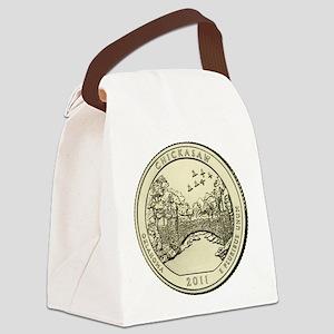 Oklahoma Quarter 2011 Basic Canvas Lunch Bag