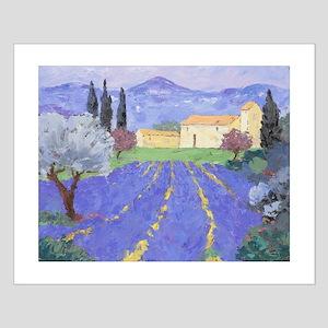 Lavender Farm Small Poster