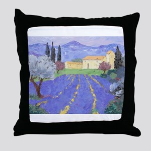 Lavender Farm Throw Pillow