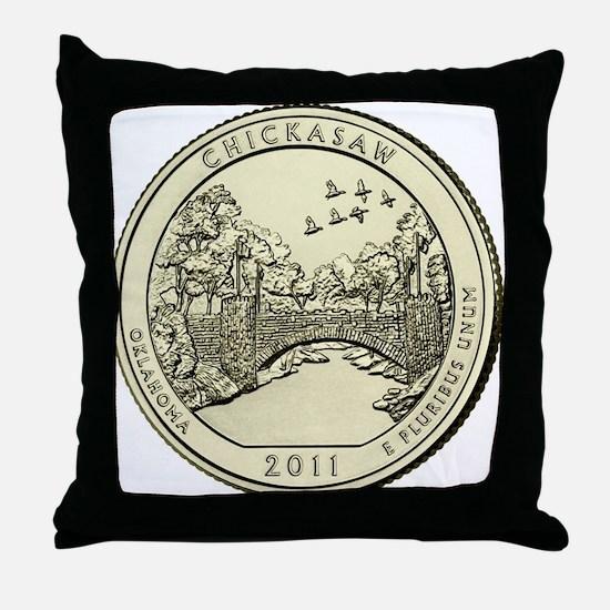 Oklahoma Quarter 2011 Basic Throw Pillow