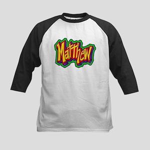 Matthew Personalized Kids Baseball Jersey