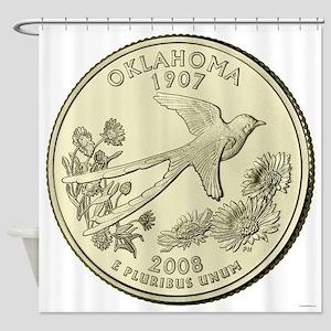Oklahoma Quarter 2008 Basic Shower Curtain