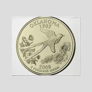 Oklahoma Quarter 2008 Basic Throw Blanket