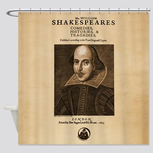 Shakespeare First Folio Shower Curtain