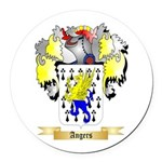 Angers Round Car Magnet