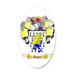 Angier Oval Car Magnet