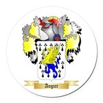 Angier Round Car Magnet