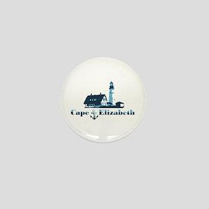 Cape Elizabeth ME - Lighthouse Design. Mini Button