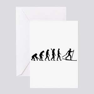 Evolution Cross country skiing Greeting Card