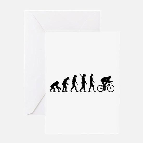 Evolution cycling bike Greeting Card