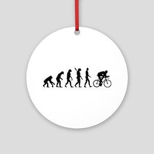Evolution cycling bike Ornament (Round)