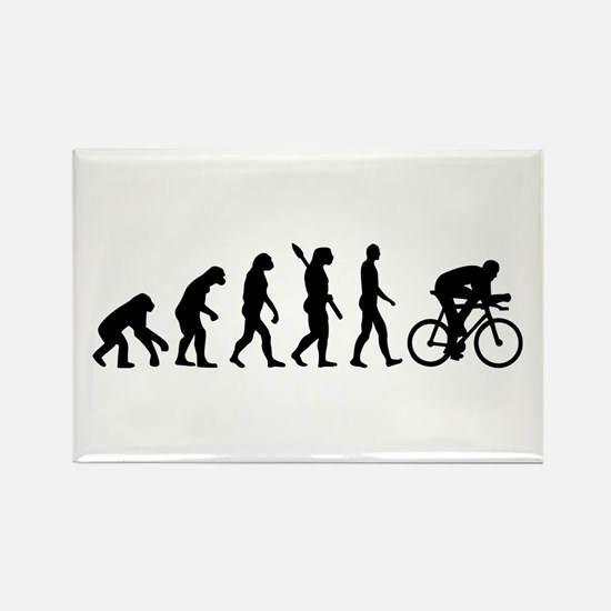 Evolution cycling bike Rectangle Magnet (10 pack)