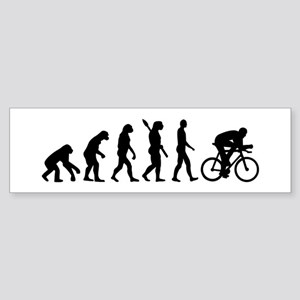 Evolution cycling bike Sticker (Bumper)