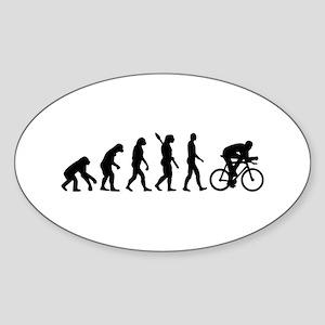 Evolution cycling bike Sticker (Oval)