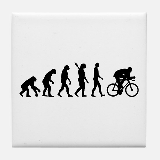 Evolution cycling bike Tile Coaster
